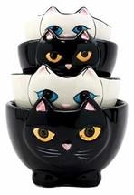 Ebros Gift Ceramic Feline Hiding Kitten Cats Stackable Measuring Cups Se... - $19.79