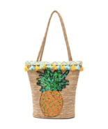 Summer Sequin Pineapple Beach Straw Bag - $29.99