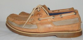 Timberland  Tan  Leather Boat Shoes mens 8.5 - £6.34 GBP
