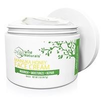Wild Naturals Face Cream Moisturizer, 86% Organic - for Daily Facial, Eye, Neck,