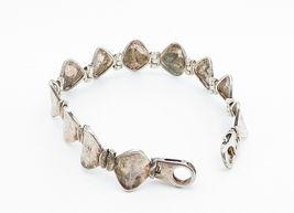 925 Sterling Silver - Vintage Smooth Curved Hinge Link Chain Bracelet - B5997 image 3