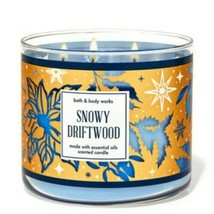 Bath & Body Works Snowy Driftwood 3 Wick Scented Candle 14.5 oz - $28.04