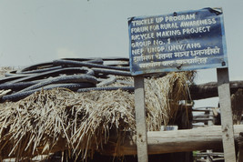 35mm Slide TUP Nepal Local Small Village Life People Bicycle Maker (#45) - $4.75