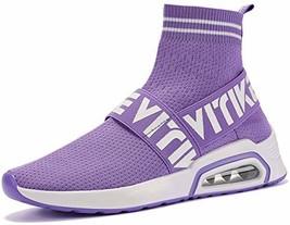 Littleplum Women'sWalkingShoesRunningSocksPlatformFashionMeshSne... - $43.28