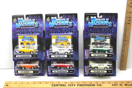 6 Pc Lot Muscle Machines Funline 1:64 '69 Charger '70 Olds '56 Thunderbird  NOC - $29.91