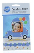 Wilton Wheel Car Photo Cake Topper Graduation, Birthday, Celebration - $4.94