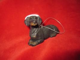 New Dachshund Dog Santa Sandicast Ornament - $12.19