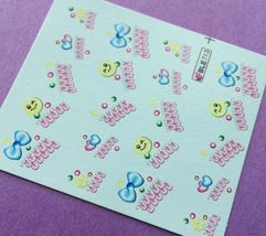 Bang Store Nail Art Water Decals Smiley Faces & Tips w/ Hearts & Bows Cute Funny - $2.11