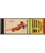 Vintage matchbook cover CHEVRON gas oil Gordons Vernon BC George Petty g... - $8.99
