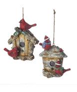 Cardinals on Birdhouse Ornament - $14.95