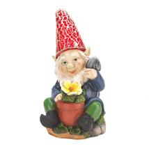 Lawn Gnomes, The Solar Mini Funny Garden Gnomes Statues - $20.74