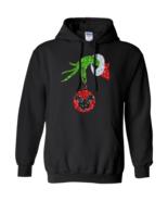 Grinch Santa Hand Ornament Mickey G185 Gildan Pullover Hoodie 8 oz. - $29.50+