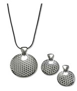 """Disc Pendant Necklace and Earring Set,  17"""" + 2"""" extender Charter Club - $27.23"""