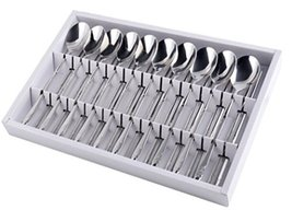 Spoon 10Pcs + Chopsticks 10Pairs Set, Stainless Steel, Plum Pattern