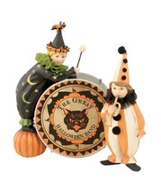 Bethany Lowe Figurines Great Halloween Band Drummers Set 2 Child Clown M... - $79.19