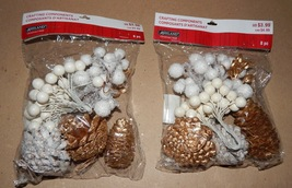 Pinecones & Stuff Crafting Components 2ea Bags Gold Ashland Christmas 140K - $6.49