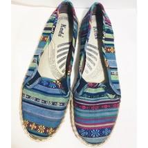 Keds Womens Flat Slip On Shoes Size 7.5 Espadrilles Multi Color - $14.89