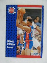 Dennis Rodman Detroit Pistons 1991 Fleer Basketball Card 63 - $0.98
