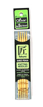 Clover Takumi Bamboo 5 Inch Double Point Knitting Needle Size 5 - $15.07