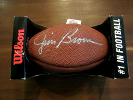 JIM BROWN CLEVELAND BROWNS HOF SIGNED AUTO WILSON NFL MINI FOOTBALL PSA/... - $178.19