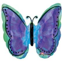 Beautiful Purple Butterfly Mylar Balloon - $12.37 CAD