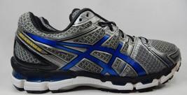 Asics Gel Kayano 19 Sz: US 13 M (D) EU 48 Men's Running Shoes Silver Blue T300N