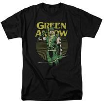 Green arrow t shirt retro 80s dc comic book cartoon superhero black tee dco800 thumb200