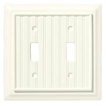 Brainerd 126359 Beadboard Double Toggle Switch Wall Plate / Switch Plate... - $7.69