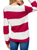 Women's Oversized Long Sleeve Colorful Chunky Knitted Casual Pullover Sweater image 15