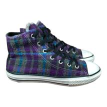 Converse All Star Multicolor Plaid High Top Shoes Junior Sz 4 - $24.14