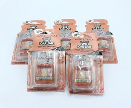 Lot of 6 Yankee Candle Co Line Dried Cotton Ultimate Car Jar Air Freshener - $22.79