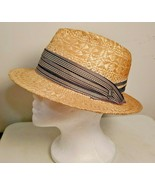 Christys' Crown Series Natural Fiber Tan Straw Hat With Charm Women Size... - $18.50