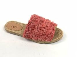 Ugg Australia Edith Slide Yarn Fringe Vibrant Coral Pink 1090849 Shoe Sa... - ₹5,676.39 INR