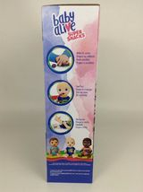 Baby Alive Super Snacks Snackin Luke Brunette Boy Doll with Airplane Spoon New image 3