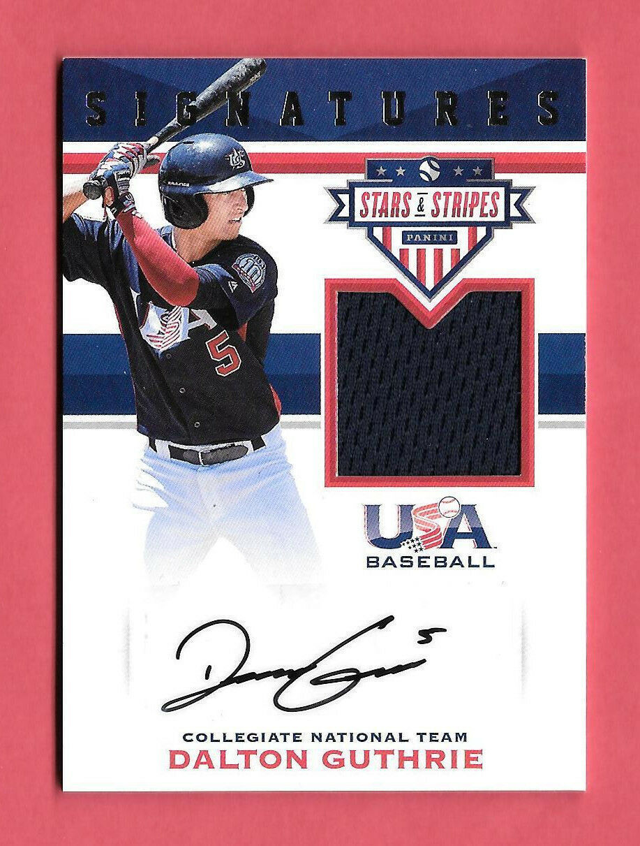 2017 Dalton Guthrie Panini USA Stars and Stripes Rookie Auto Jersey 167/199