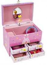 JewelKeeper Princess And A Castle Large Musical Jewelry Storage Box With... - $62.88