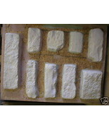 9 CONCRETE MOLDS & SUPPLIES MAKE 100s OF LIMESTONE ROCK STONE VENEER FOR... - $209.98