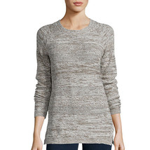 St. John's Bay Long-Sleeve Marled Scoopneck Sweater Size M, L Taupe Msrp... - $16.99