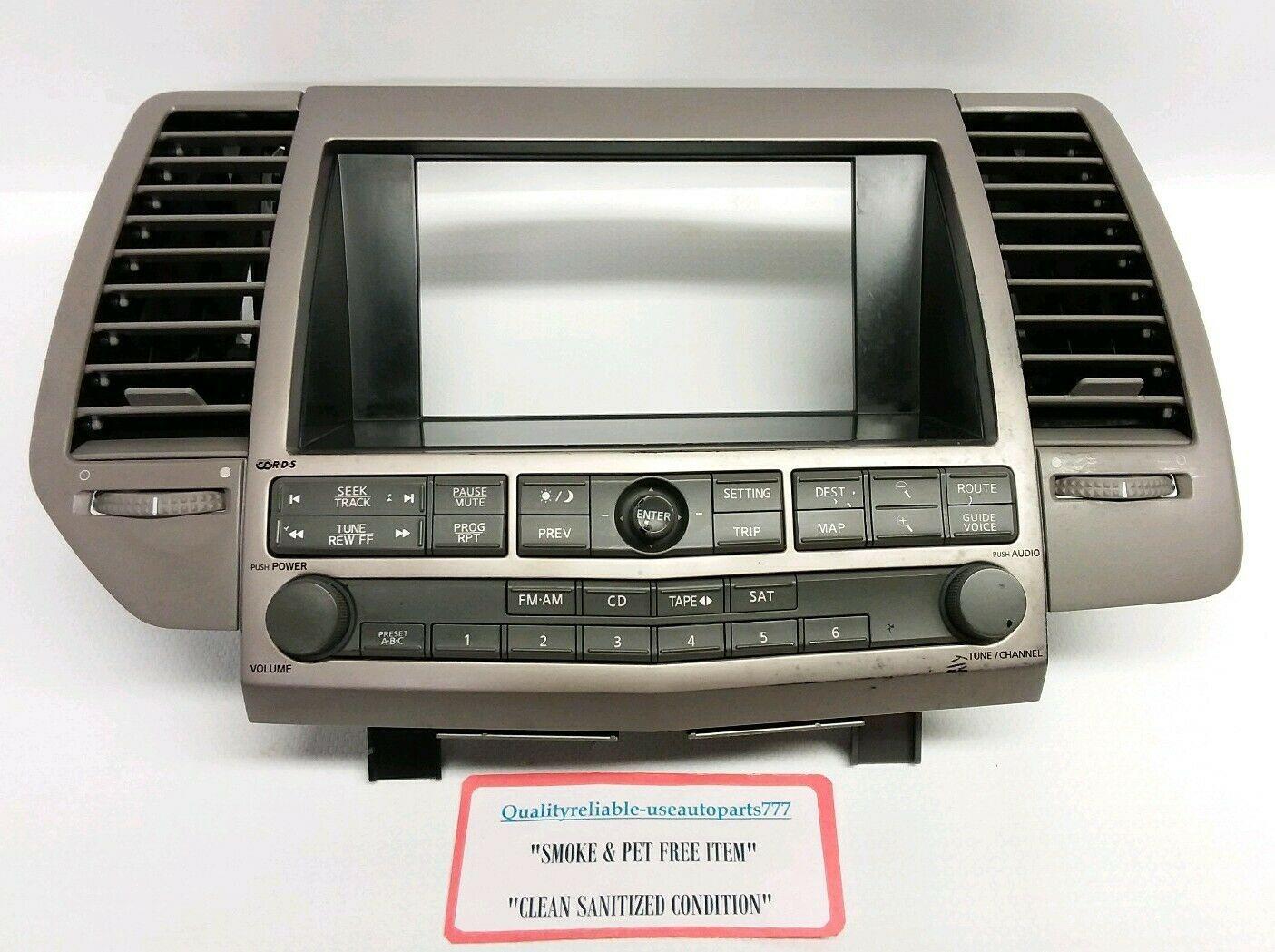 04 05 2004 2005 Nissan Altima Radio Cd Player  28185-ZB10A  BF4033