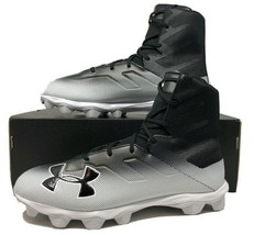 Under Armour Highlight RM High Top Mens Football Cleats Size 13 Black/Wh... - $54.99