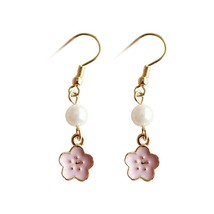 Elegant The Cherry Blossom Series Fashion Simple Imitation Pearl Tassel ... - $25.99