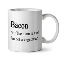Bacon Meat Eat NEW White Tea Coffee Mug 11 oz | Wellcoda - $15.99