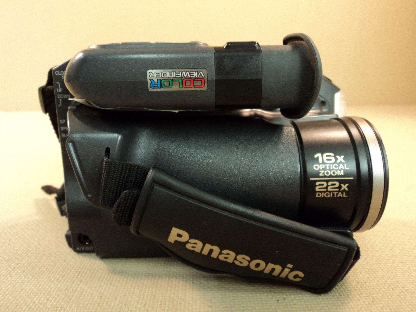 Panasonic Palmcorder Video Camera VHS-C 16x Optical Zoom PV-D407D V2