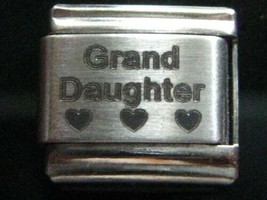 Grand Daughter with Hearts Italian Charm for 9mm Bracelet 100% Stainless Steel - $4.67