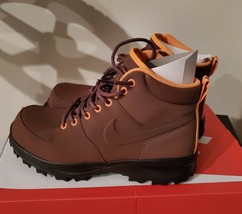 Nike Mens Manoa Leather Hiking Boots Fauna Brown Outdoor 454350 203 Multi Sizes  - $84.99