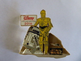 Disney Trading Pins 116122 2016 Disney Visa Cardmember Star Wars C-3P0 and R2-D2 - $23.38