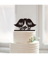 Buythrow® Acrylic Same Sex Cake Topper Lesbian For Wedding Decoration Mrs - $24.01