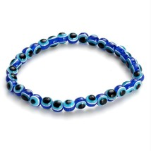 2018 Fashion 4 6 8mm Blue Resin Beads Beaded Bracelet Turkish style Charm Blue  - $9.95