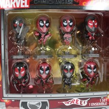 Deadpool Metallic Chrome Figure Set of 8 Chimichanga - $13.42