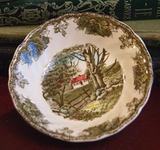 FRIENDLY VILLAGE BERRY DISH THE STONE WALL JOHNSON BROS ENGLAND IRONSTON... - $12.99